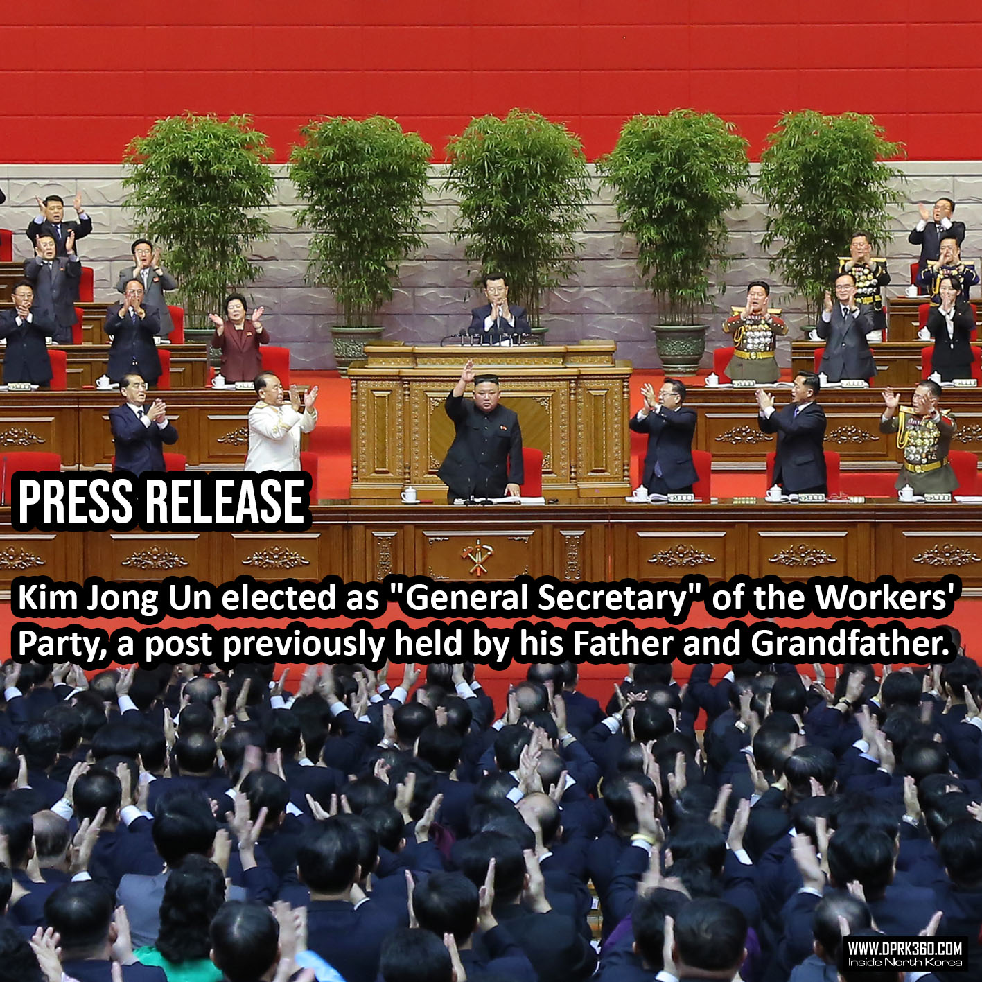 2nd Press Release: Eighth Congress of Workers' Party of Korea