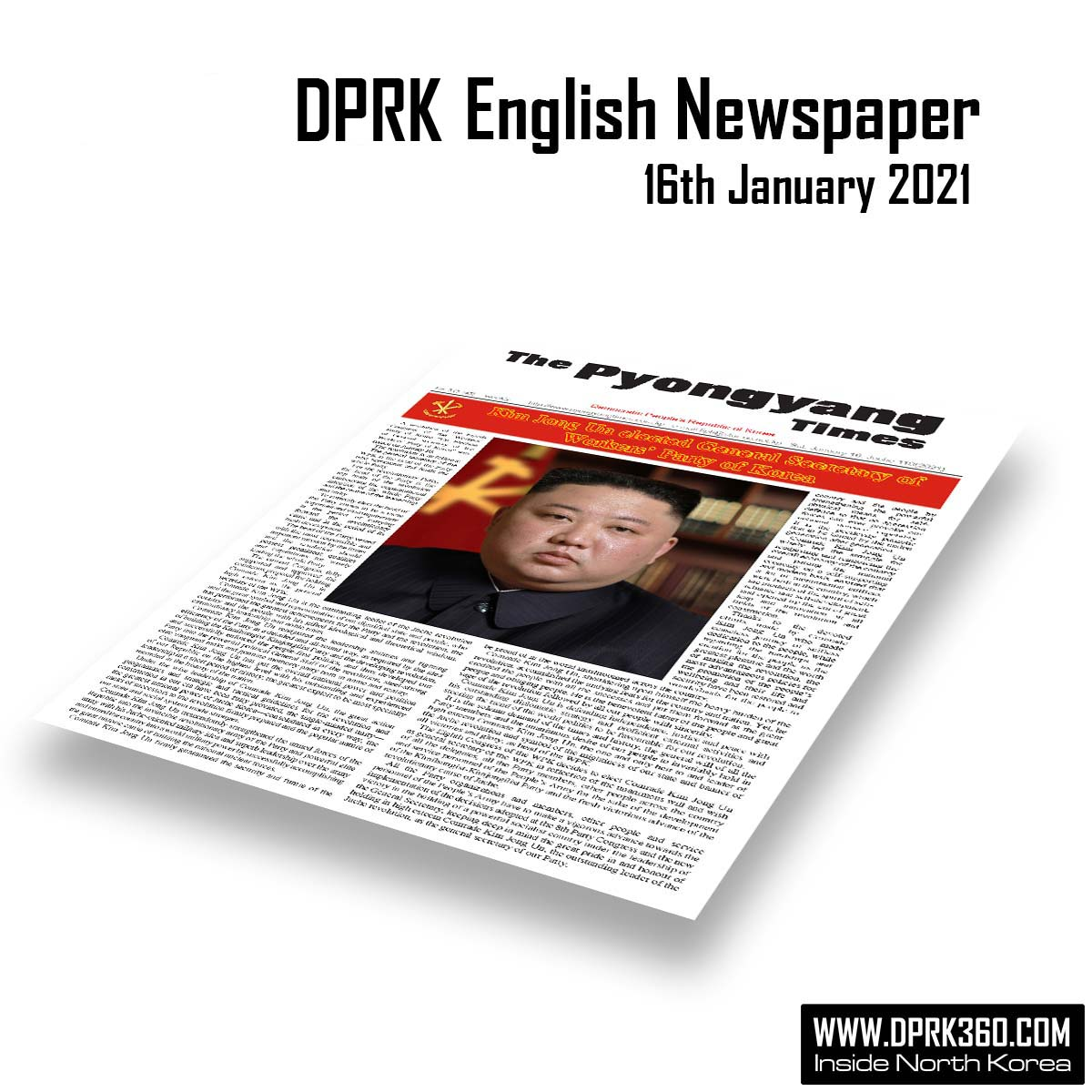 DPRK English Newspaper – 2021 January 16th